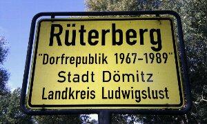 Ortsschild Dorfrepublik